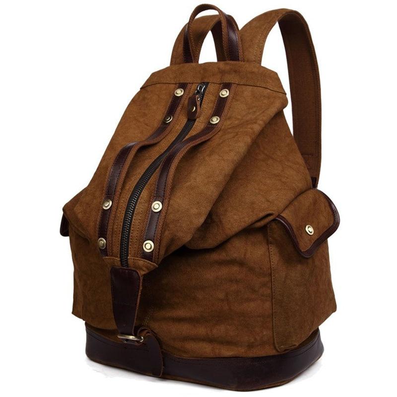 257938c509 New Vintage Trendy Backpack Durable Canvas Backpack Leisure Travel Bags  Unisex Laptop Backpacks Men Backpack -in Backpacks from Luggage   Bags on  ...
