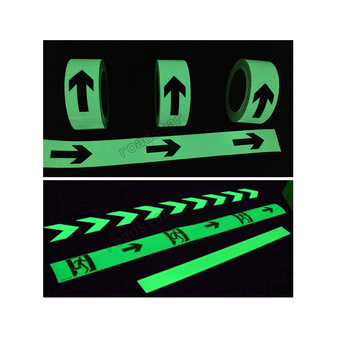 50mmX30m photoluminescent directional wall sticker at night safety free shipping