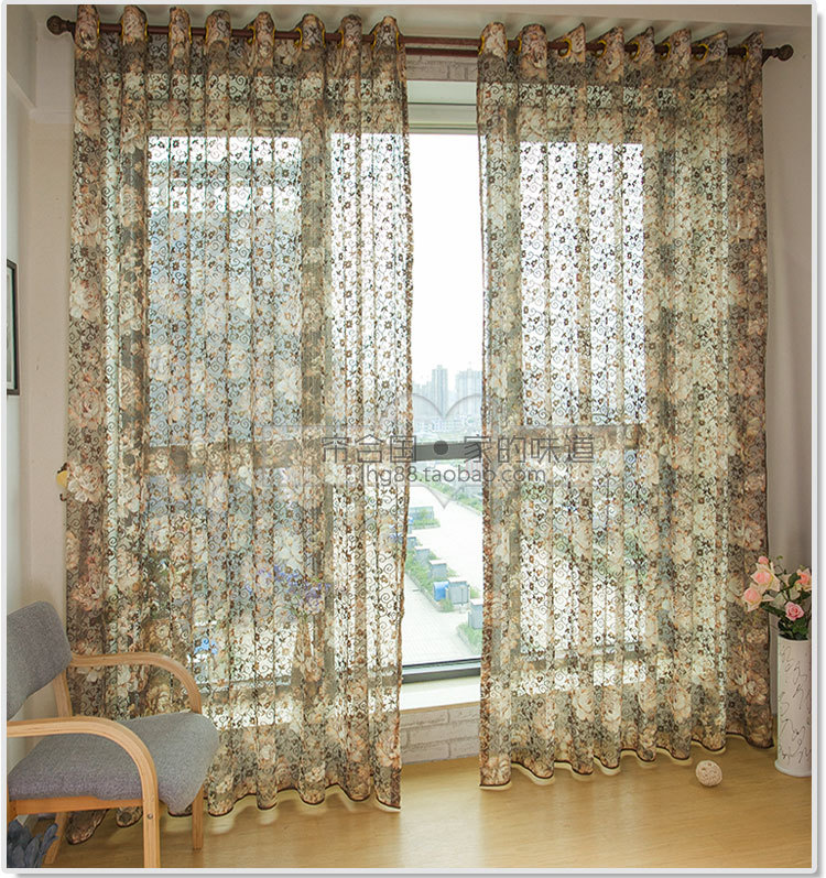 New Luxury Lace Curtain Cafe Net Curtains Voile Uk For Living Room Bedroom Part 23