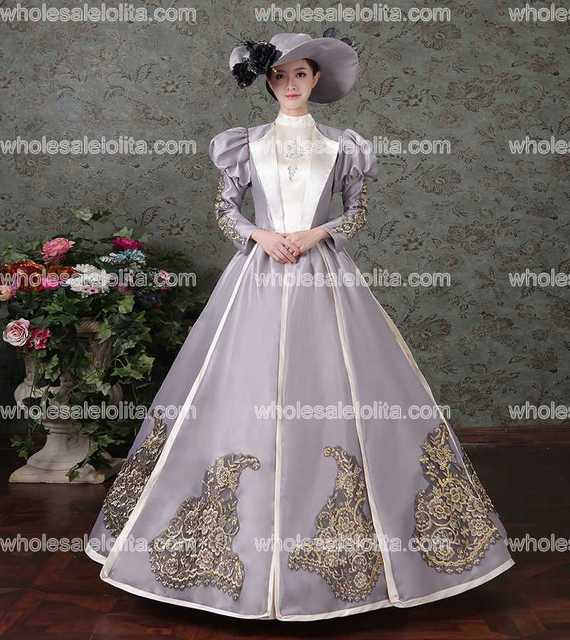 Neue Ankunft Rokoko Barock Marie Antoinette Ballkleid Kleid ...