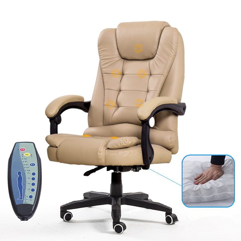 Executive Office Chair High Back PU Leather Desk Computer Massage Chair Spring Seat Adjustable Height Reclining Back Ergonomic