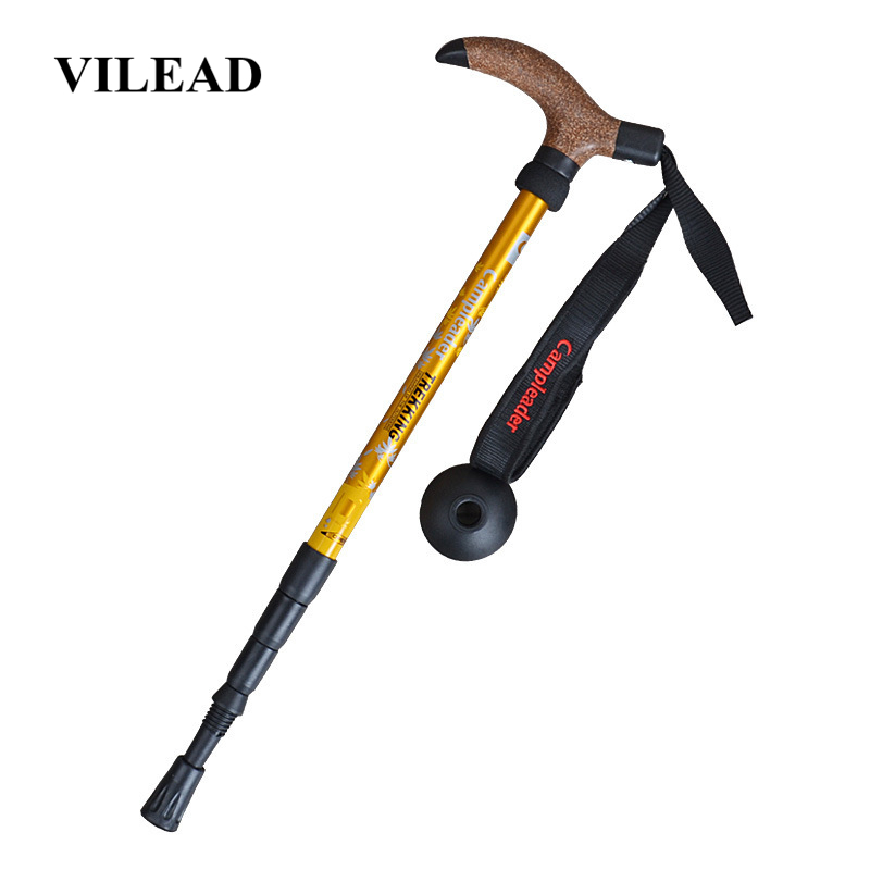 VILEAD Portable 47 95cm Cork Walking Sticks 7075 Aluminum Nordic Ultra light Outdoor Travel Hiking Trekking Poles Cane Climb-in Walking Sticks from Sports & Entertainment