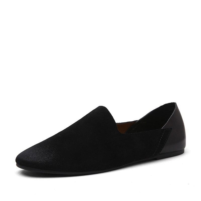 De Vintage Vache Mocassins Chaussures brown Hommes Black Style Britannique Frais Daim En F3u15TlcKJ
