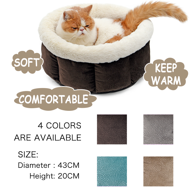 PAWZRoad Pet Cat Bed Super Blødt Pure Color Pet Kennel 4 Farver Nice - Pet produkter - Foto 2