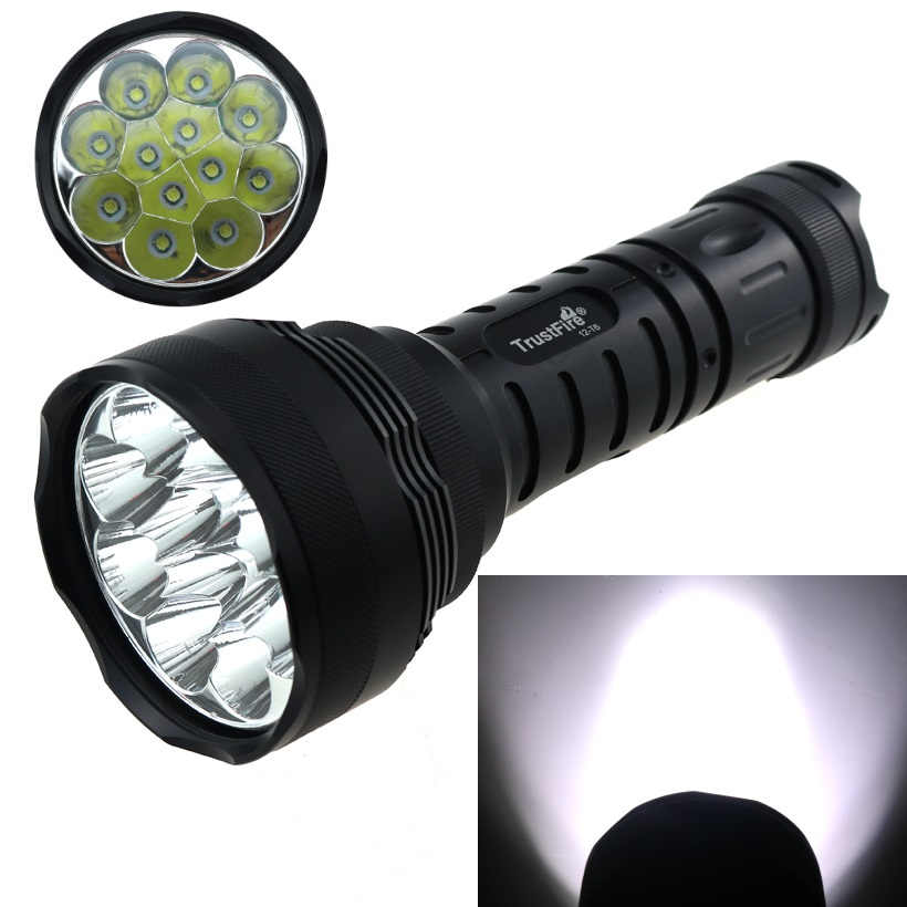 TrustFire 15000 Lumen LED Flashlight Torch Lamp  12x CREE XM-L T6 5 Mode Tactical Hunting Camp Light For 18650 Battery led tactical flashlight 501b cree xm l2 t6 torch hunting rifle light led night light lighting 18650 battery charger box