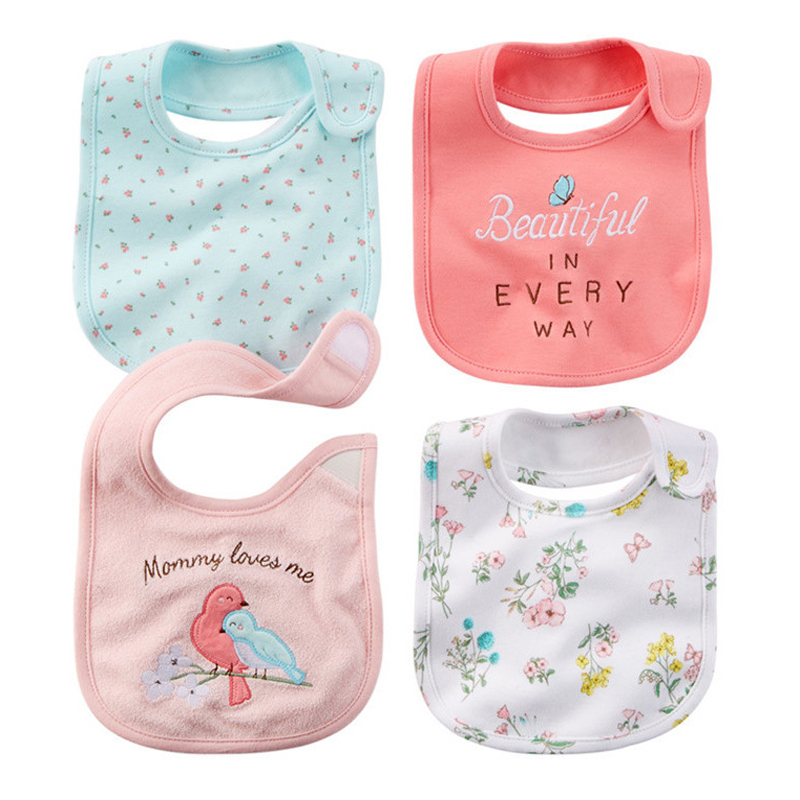 Free Shipping baby bibs Baby Girl Boy Waterproof Carter Cartoon Towel Kids Toddler Dinner Feeding Bibs Bandanas Burp Cloths
