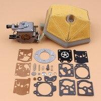 Carburador filtro de ar carb reconstruir kit reparação para husqvarna 51 55  55 peças motosserra rancher walbro carby
