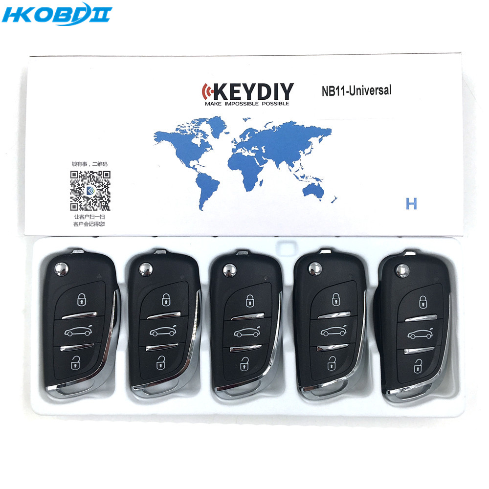 HKOBDII KEYDIY Original KD NB11 NB series with Universial Chip Remote For KD900 KD X2 URG200