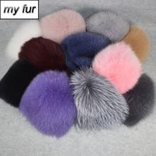 Новая женская зимняя шапка из натурального Лисьего меха, эластичная теплая мягкая пушистая шапка из меха лисы, роскошная качественная шапка-бомбер из натурального Лисьего меха