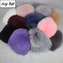 2020 neue Frauen Winter Echt Fuchs Pelz Hut Elastische Warme Weiche Flauschigen Echten Fuchs Pelz Kappe Luxuriöse Qualität Echt Fox fell Bomber Hüte