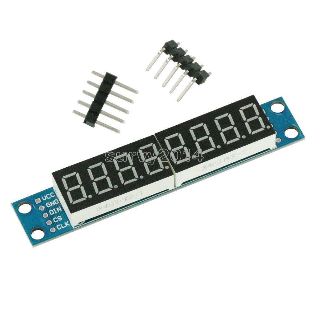 MAX7219 LED Dot Matrix 8 Digit Digital Tube Display Control Module For Arduino 3.3V 5V Microcontroller Serial Driver 7-segment