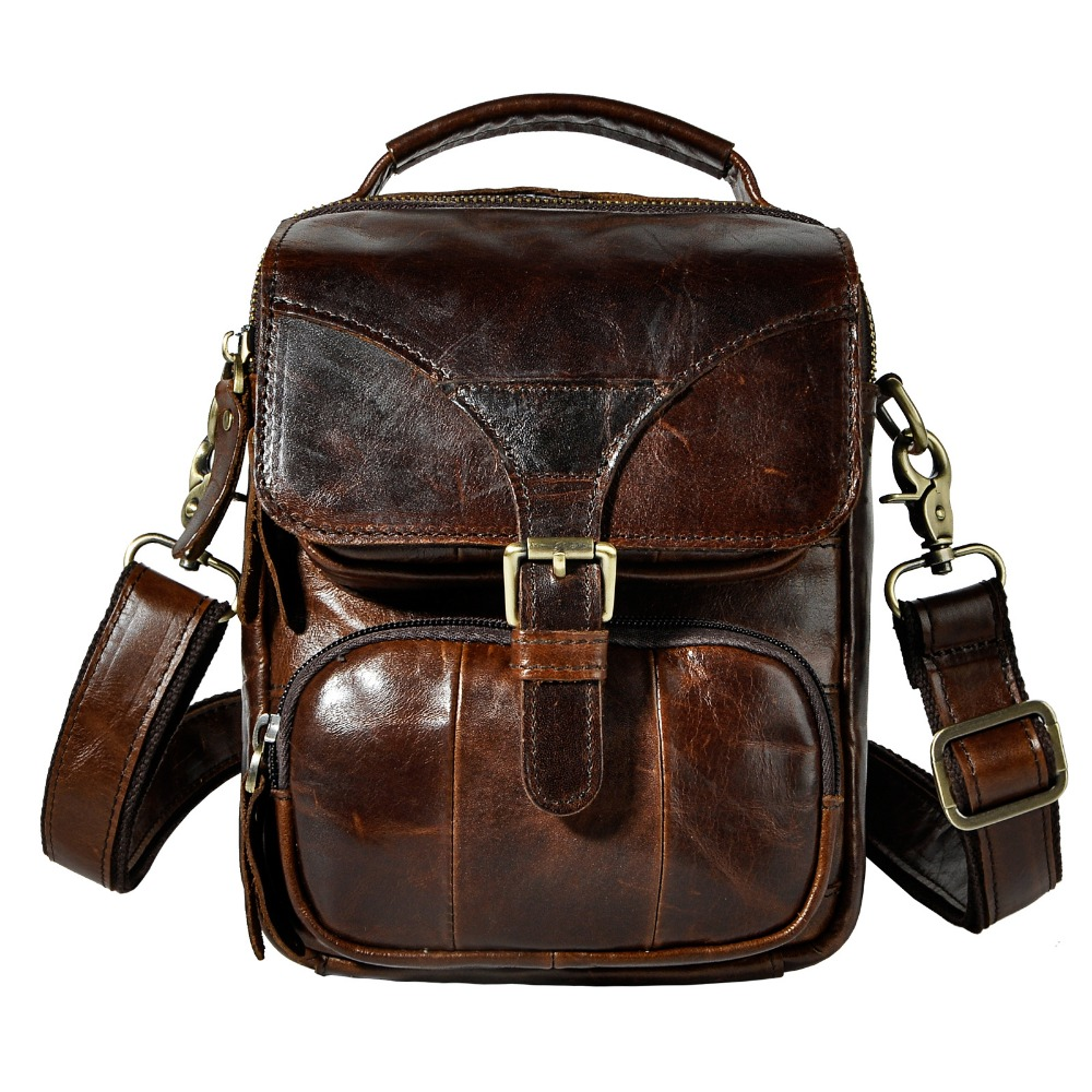 Fashion Real Leather Male Casual Multifunction Waist Belt Bag Messenger bag Design Satchel Cross-body Shoulder bag For Men 2074c