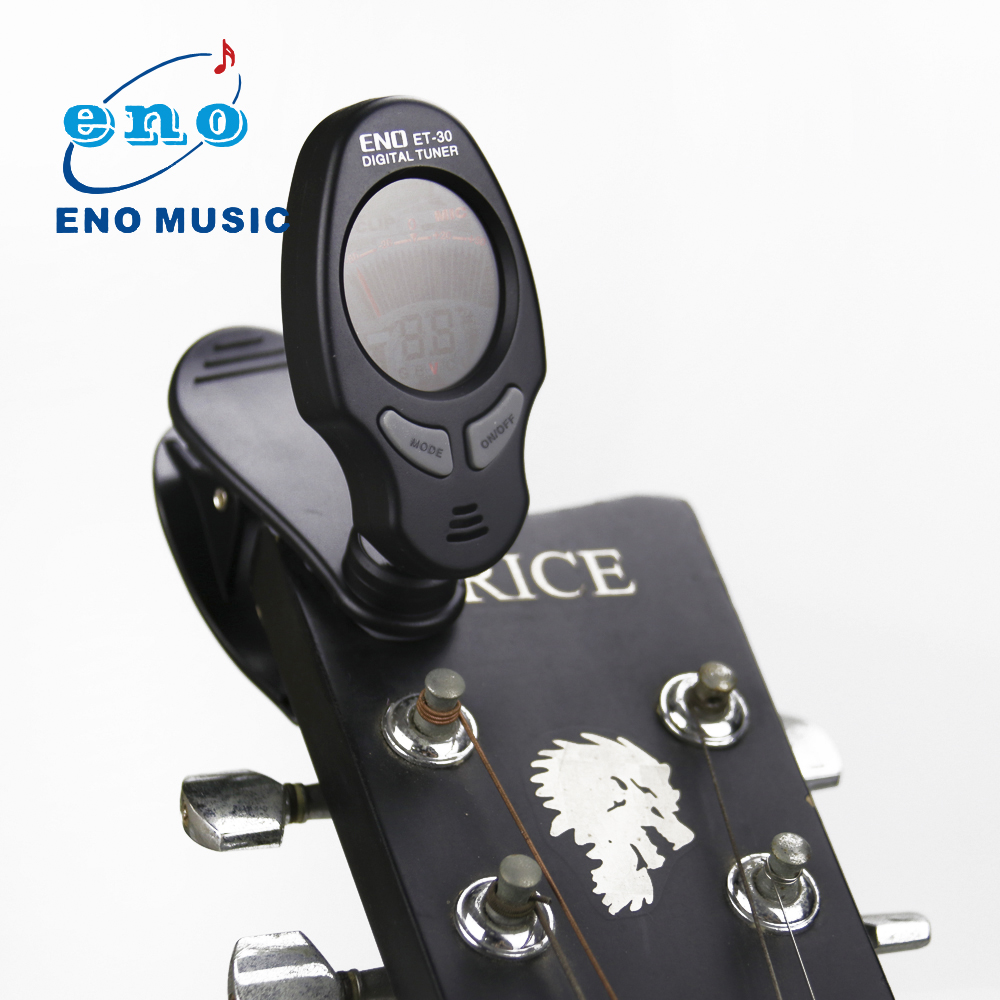 New Arrival ENO ET-30 Mini Clip on Digital Tuner Backlit LCD Tuner For Guitar Bass Chromatic