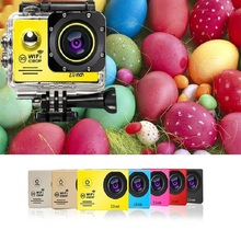 "2.0"" WIFI Mini Camera 4K HD 12MP Sport Action Digital Camcorders Video Micro Camera Cam DV DVR EU Plug with Waterproof Case Hot"