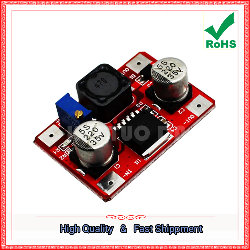 Free Ship 2pcs LM2577 DC-DC step up Boost Module Input IN 3.5v-30V to Output OUT 4v-30V Red power supply converter board Booster