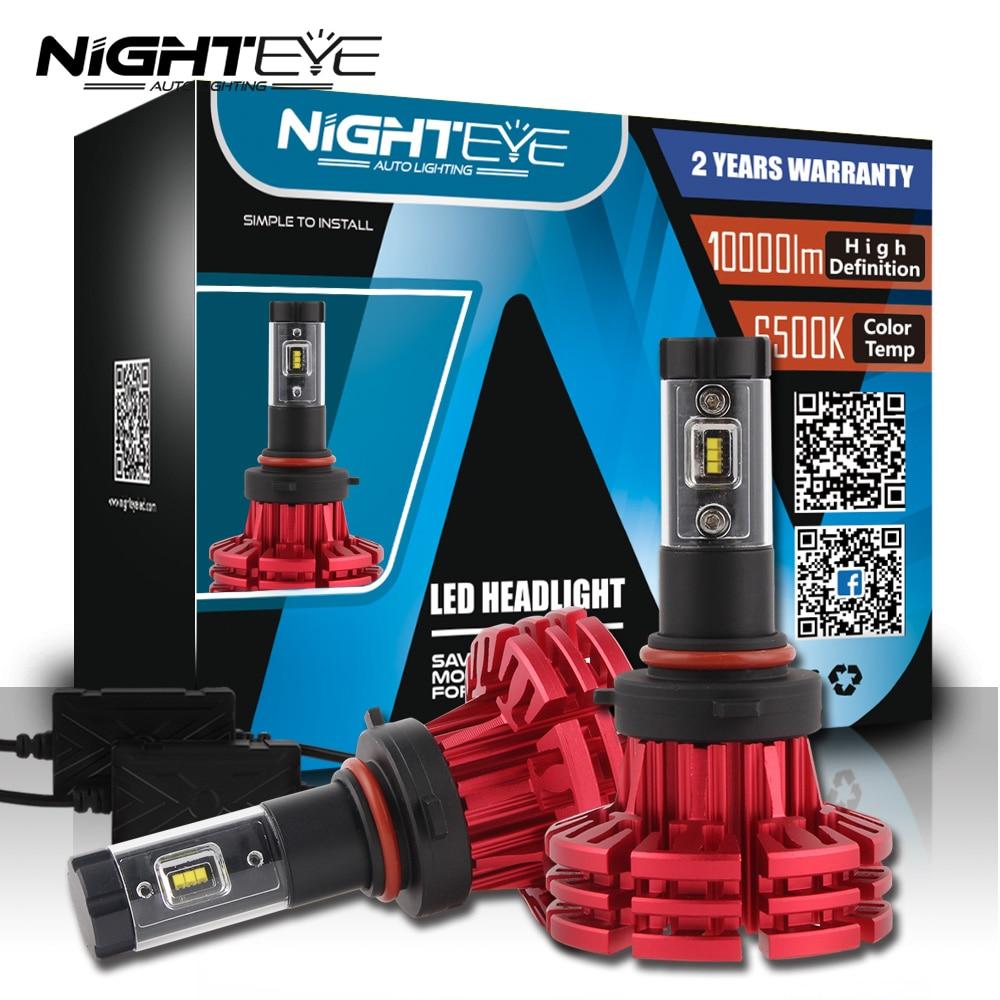 NIGHTEYE Car LED Headlight Bulbs Kit 880 9005 9006 9007 9012 H1 H3 H4 H7 H11 H13 6500K 60W Auto Hi/Low Beam Headlamp Lamp 2x car led headlight 12v 24v 60w 7200lm 6000k light auto headlamp bulb kit h1 h3 h4 h7 8 9 h11 h13 9004 9005 9006 9007 880 881