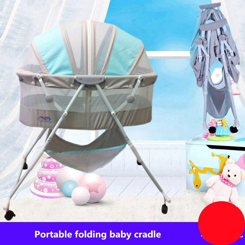 Bébé berceau concentretor lit pliant nouveau-né bébé porter portable avec lit de berceau à roulettes - 4