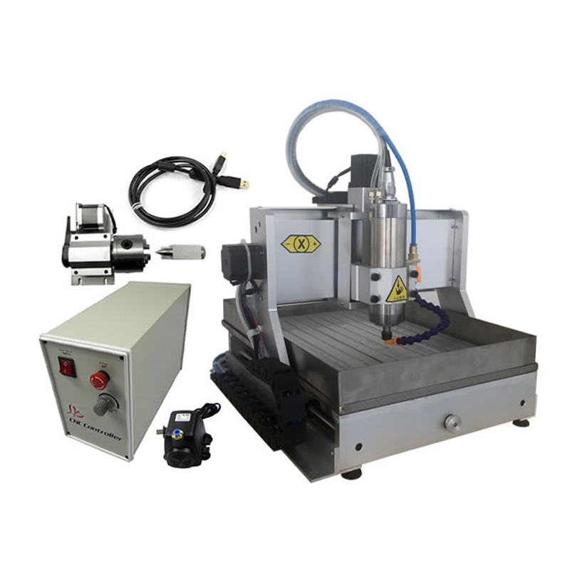Free duty to RU <font><b>3020</b></font> <font><b>CNC</b></font> <font><b>router</b></font> 4axis engraving machine with water tank for wood metal stone jade working image