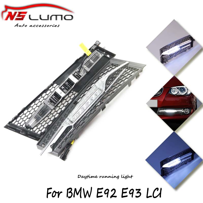 2Pcs Car led Daytime Running Lights 6 LED DRL Daylight Kit for BMW E92 E93 LCI 11~13 Super White 12V flexible drl Head Lamp