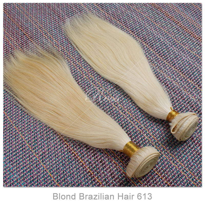 2pcs ombre weave Brazilian Blond Virgin Hair Free And Fast Shipping ombre brazilian hair Azmazing Blond Colour hair extension