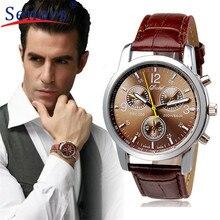 HF New Luxury Fashion Crocodile Faux Leather Mens Analog Watch watches men relogio masculino erkek kol saati