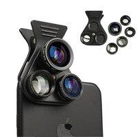 HD Cell Phone Lens Professional 2 5X Telephot 180 Degree Fisheye 0 62X Wide Angle 15X