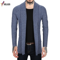 New Autumn Winter Simpel Style Men's Slim Fit Soild Cardigan Male Long Sleeve Sweater Pull Homme Turn down Collar