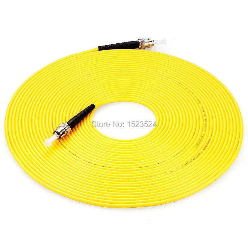 Free Shipping SM SX PVC 3mm 20 Meters ST/UPC Fiber Optic Jumper Cable ST/UPC-ST/UPC Fiber Optic Patch Cord