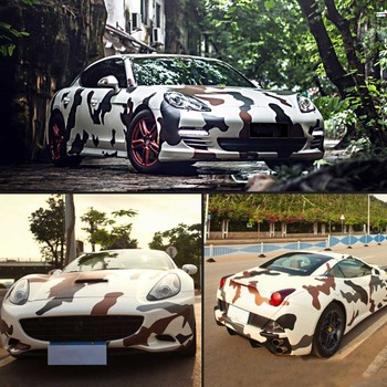 Car Sticker Car Styling Body Wrap Film Camo Camouflage Army Green Car Stickers& Decals PVC Vinyl Car Stickers image