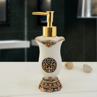 Classic Retro Royal Handmade Lotion Dispenser Resin Bath Room Accessory Soap Dispenser for Kitchen Bathroom 160ml