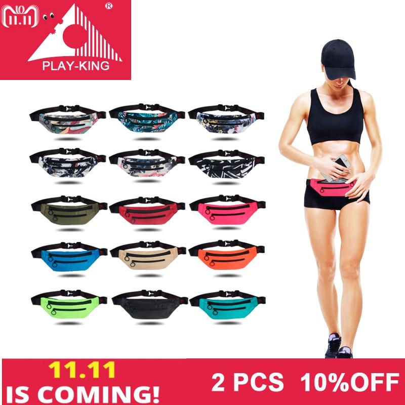 PLAYKING Outdoor Sport Running Bag Belt For Women Men Phone Running Waist Bag Belt Pouch Accessories Fitness Gym Bag 2018