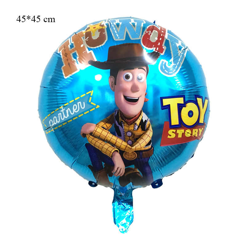 Brinquedo Buzz Lightyear 6 pçs/set balões de hélio folha de desenhos animados 32 Polegada Número Azul brinquedo balões balões do feliz aniversario