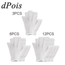 Белые тонкие многоразовые эластичные мягкие хлопковые рабочие перчатки для сухой руки увлажняющие косметические Eczema Hand Spa и проверка ювелирных изделий для монет