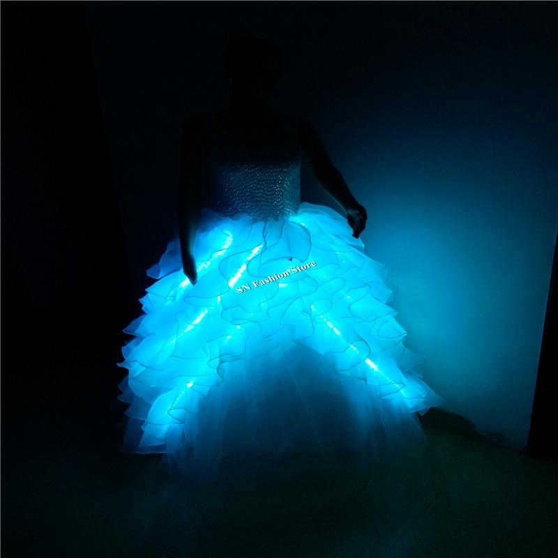 GG10 Värviline Ballroomi laulja tants LED-valgustite kostüümid - Pühad ja peod - Foto 5