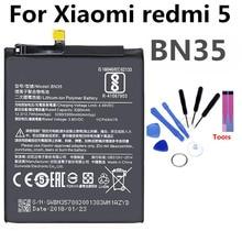 BN35 Mobile Phone Battery For Xiaomi Redmi 5 redmi5 Real Capacity 3300mAh Replacement Li-ion