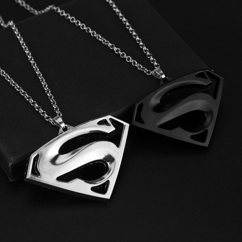 Superman Pendants Necklaces classic S logo maxi statement jewelry fans Collection