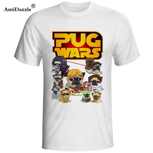c82684a4009 Antidazzle 2017 New PUG WARS T Shirt Men star war Short Sleeve Casual t-shirt  Men Rock Boy Tops Camisetas