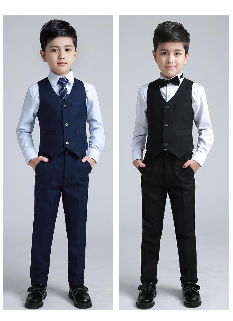Bespoke Royal Blue 3 Pieces Kid Suit Page Boy Wedding Tuxedos Dinner Proms Suit