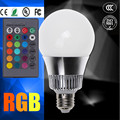 GU10 RGB 6W 15W E27 E14 B22 RGB Q6 LED Bulb AC 85-265V LED Spotlight IR Remote Controller For Disco DJ Party Holiday Dance lamp