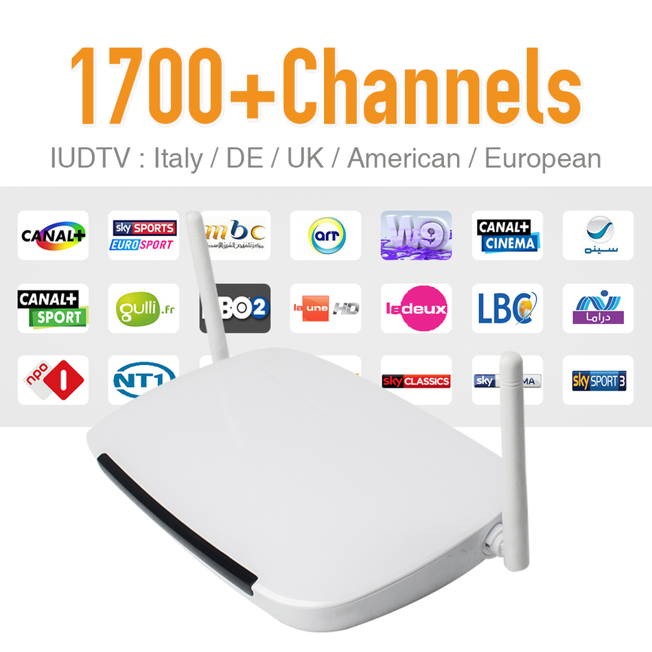 Europe Arabic Sky IPTV Channels Box Android WiFi HDMI Smart TV Box 1700 Plus Arabic French IPTV Channels Package HD Media Player iptv streaming box leadcool android wifi 1g 8g include 1700 italy portugal french receiver europe arabic channels package