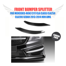 2PCS/Set Carbon Fiber front lamp decorations molding trim for Mercedes Benz C117 CLA Class CLA250 CLA200 Sedan 2013-2014 Non AMG
