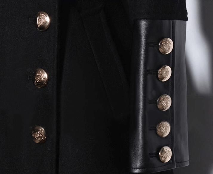 Новые осенние и зимние женские двубортное шерстяное пальто