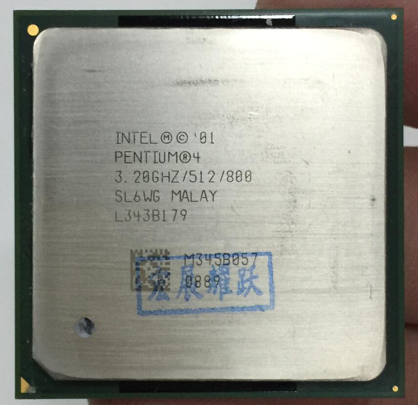 Intel Pentium 4 PC ordinateur P4 3.20 GHZ 512 M 800 SL6WG NE P4 3.2 GHZ P4 3.2 3.2G 3.20G 3.2C CPU De Bureau processeur Socket 478