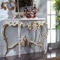 Mão esculpido móveis de madeira - madeira soild ouro dourando folha folha de console de mesa