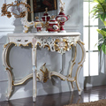 antique hand carved wood furniture- soild wood gold foil leaf gilding console table