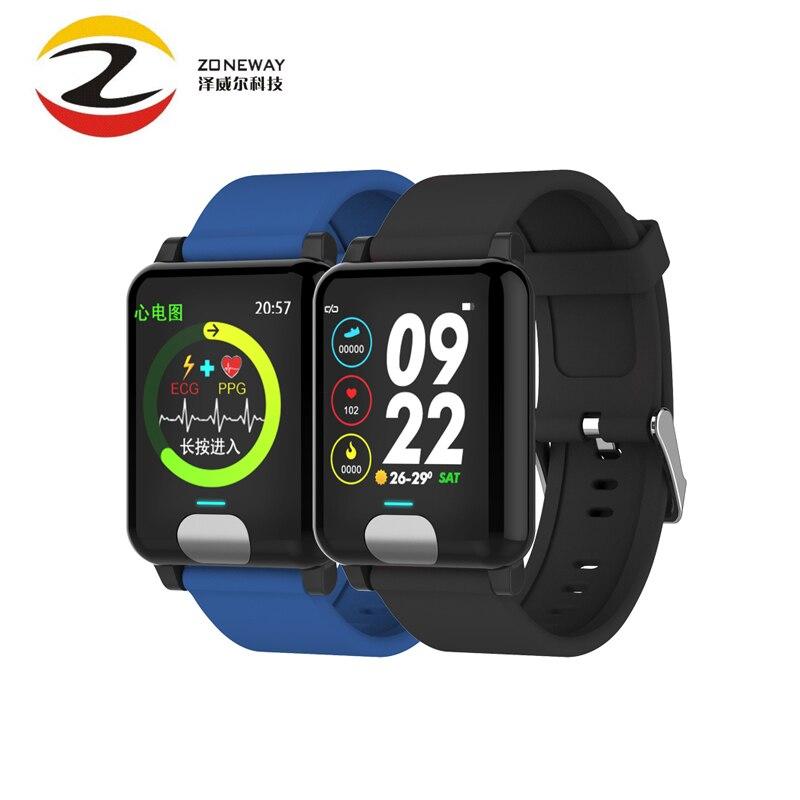 E04 pulsera inteligente rastreador de Fitness ECG/PPG la presión arterial de Monitor de sueño, reloj inteligente impermeable para Xiaomi Android IOS