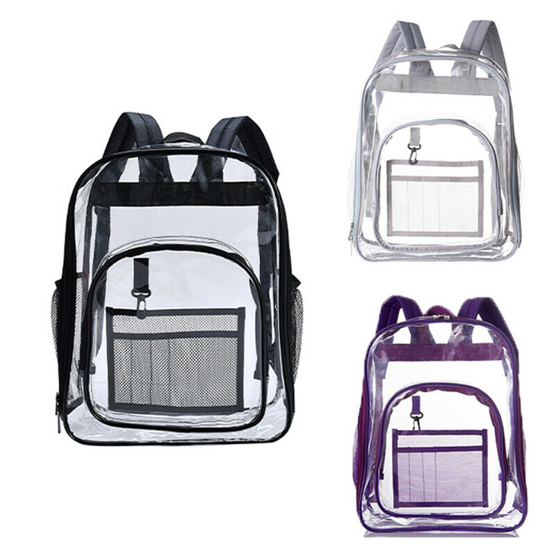 2019 New Women Girl Student School Bag Large Capacity Transparent Clear Backpack Bag School Office Travel Hanging Out Bag