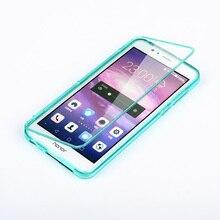 Huawei Honor 8 Case Флип Прозрачная Крышка Тпу Силиконовый Прозрачный Коке Капа Honor8 Сенсорный Экран Протектор Телефон Сумки Случаи Аксессуары