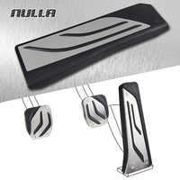 NULLA LHD No Drill Stainless Steel Foot Rest Pedals Gas Fuel Brake Footrest Pedal Manual For BMW E61 E63 E64 E70 M5 X3 5 Series