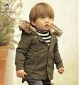Мальчик Куртка Дети Верхняя Одежда Пальто Мода Мальчик Пальто Девочка Куртка Теплая С Капюшоном Детская Одежда Детская Одежда